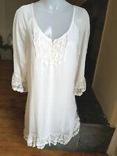 Womens NWT Urban Mangoz Boutique Urban Boho Chic Romantic Lace Sheer Dress