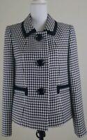 KASPER~Women's Size 8~Black/Ivory Blazer Jacket Career Office Wear NWT $129.00
