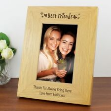 "Personalised Best Friends Photo Frame 6x4""  Wooden Friendship Picture Frame Gift"