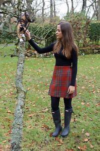 Ladies Authentic Shetland Wool Kilt Royal Stewart Antique Tartan TG0800