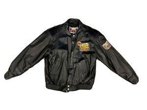 New Vtg Rare NBA Inside Stuff Jeff Hamilton Leather Jacket.