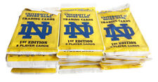 (36) 1990 Collegiate Collection Notre Dame 8 Trading Card Packs
