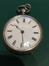Antique Ladies' Solid Silver c.1881 Hallmarked Victorian Pocket Watch