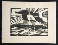 Heinrich Stegemann, Sonne überm Meer, 1924/25, Holzschnitt aus dem Nachlass