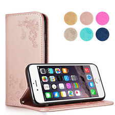 Card Slot Leather Magnetic Flip Stand Wallet Case Cover For Apple iPhone 6s 7 5