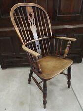 Antique Ash & Elm Windsor Chair Original Finish