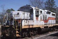 MID ATLANTIC RAILROAD CO Locomotive 958 CHADBOURN NC Original Photo Slide