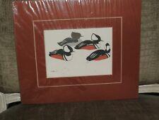 """W Morgan 1981 Print Ducks 9.5""""X11"""""""