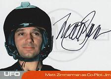 UFO Autograph Trading Card MZ1 Matt Zimmerman As Co-Pilot Jim
