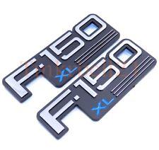 92 93 94 95 96 Ford F-150 XL 2pc Fender Emblem Nameplate Badge Side F150 Logo