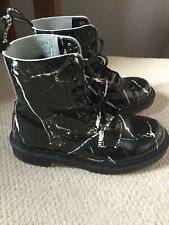 Doc Martens Limited Edition Blackmarble PascalLeatherUk4/37 1460 8hole VGC Boots