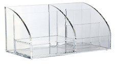 Acrylic Clear Office Home Desk Top Tidy Organiser Holder Pens Pencils Stationery