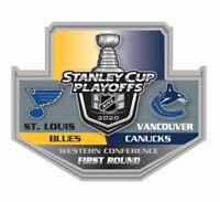 2020 STANLEY CUP NHL PLAYOFFS PIN 1ST FIRST ROUND ST. LOUIS BLUES VS. CANUCKS