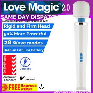 28 Modes CORDLESS LOVE MAGIC Wand 2.0 Body Personal Massager Full AU Express