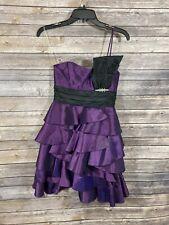 NWT Windsor Sz 3 Semi Formal Dress Layered Strapless Purple