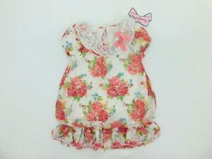 Nannette Toddler Girls Boutique Flower Print Dress with Lace sz 2T NEW