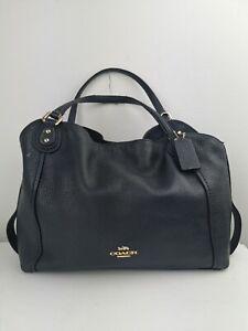 Authentic Coach Eddie 28 Navy Bag