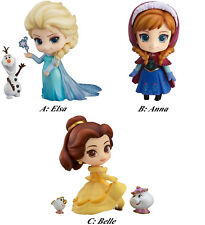 Disney Princess Nendoroid Elsa Anna Belle Rapunzel Tinker Bell Ariel action fig