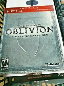 The Elder Scrolls IV: OBLIVION Ps3 5th Anniversary STEELBOOK Edition Game New+