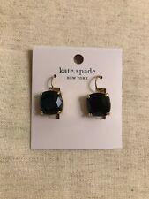 Kate Spade Black & Gold Small Square Earrings