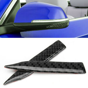 Universal Car Carbon Fiber Rearview Mirror Trim Protection Stickers Decoration