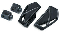 Kuryakyn Gloss Black Phantom Mini Floorboards Rear Adapters Yamaha Road Star KIT