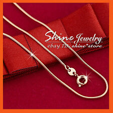 9K ROSE GOLD FILLED SNAKE CHAIN for pendant WOMENS MENS SOLID NECKLACE 45CM