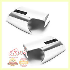 FOR 2007-2015 GMC ACADIA CHROME SIDE MIRROR COVER COVERS 2008 2009 2010 2011 NEW