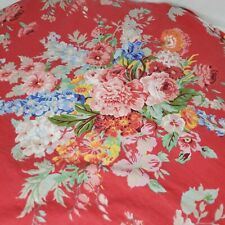 Ralph Lauren Bedding South Hampton Beach House Queen Fitted Sheet Red Floral