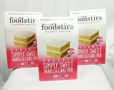 Foodstirs Modern Baking Organic Simply Sweet Vanilla Cake Mix (Lot of 3) Vegan