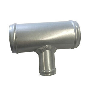"""1.77"""" 45mm OD Aluminum T-Piece Pipe Hose 3 Way Connector Joiner Spout 25mm Silve"""