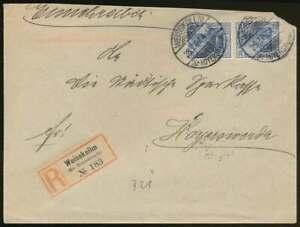 D.Reich Einschreibenbrief WEISSKOLLM 25.7.07 nach HOYERSWERDA (65590)