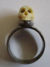 antique vintage 1900 RARE Skull Ring momento ? mori ? masonic ? secret society