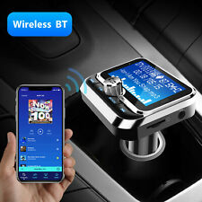 Bluetooth LCD Car FM Transmitter MP3 Player Radio Adapter USB Charger 2 Outlets