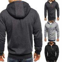 Sweater Winter Hooded Coat Warm Hoodie Jacket Jumper Men's Outwear Sweatshirt