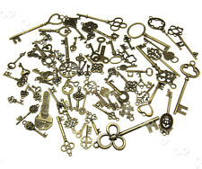 More details for 70pcs old fashion keys antique vintage retro bronze diy pendants decor gift