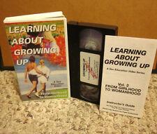 TEENAGE SEX EDUCATION dating Girlhood to Womanhood ovulation VHS puberty health
