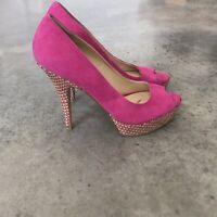 Enzo Angiolini Pink Peep Toe Heels Stilettos Pumps Shoes Size 7M / 7 M