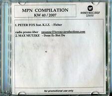 warner music  2 tr CD PROMO  PETER FOX feat KIZ fieber © 40/2007 mpn compilation