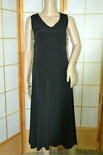 Moda International Victoria Secret Ruched Black A-Line Fit-Flare Stretch Dress L