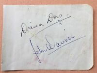DIANA DORS. Genuine Handsigned Signature on Album Page.