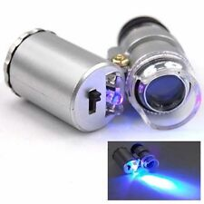 Microscope de poche à leds zoom x60 LED + UVlampe loupe joaillerie bijoutier