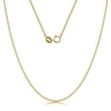 9ct Oro Amarillo Collar Talla Diamante Cadena Barbada 18'' PULGADAS