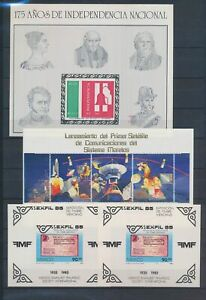 XC89450 Mexico imperf mixed thematics sheets XXL MNH