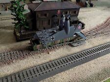 Märklin-MARKLIN, WWII MILITARY GONDOLA WAGON WITH AIRPLANE LOADED, SCALE HO
