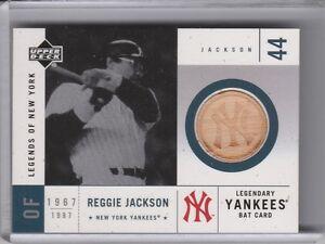 2001 UPPER DECK #LYB-RJ REGGIE JACKSON BAT NEW YORK YANKEES HOF 2165