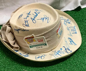 1996 LPGA Michelob Light Heartland Classic Reupert Straw Hat w/ 22 Signatures!