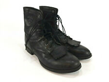 Ariat Heritage Lacer II Black Leather Kiltie Western Boots Women's US 9.5 B