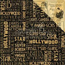 """Graphic 45 Vintage Hollywood - SILVER SCREEN - 12x12"""" Scrapbooking Paper"""