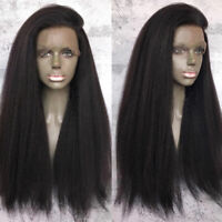 Yaki Kinky 360 Full Frontal Lace Wig Raw Remy Malaysian Human Hair Wigs Glueless